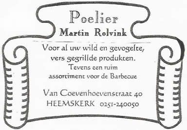 Poelier Martin Rolvink