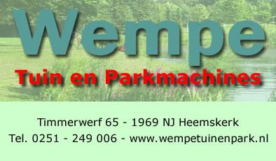 Wempe - Tuin- en Parkmachines